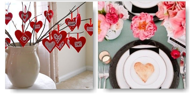 D coration table saint valentin for Decoration porte st valentin