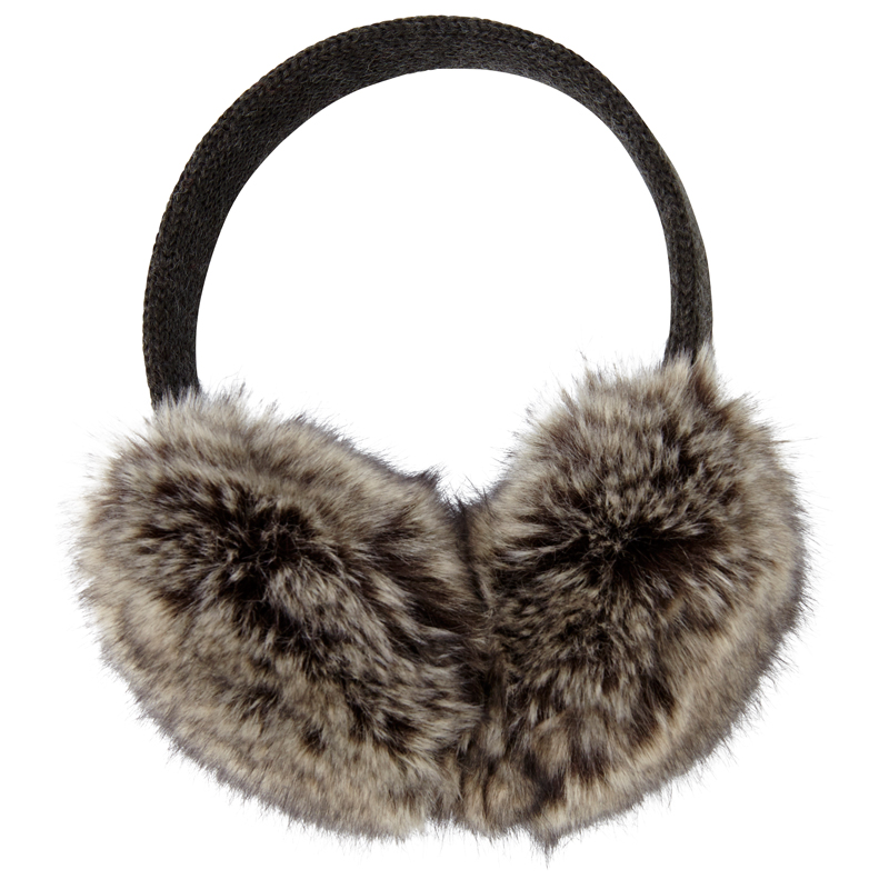Grand Knit Fur Earmuff - Grey, $24.50